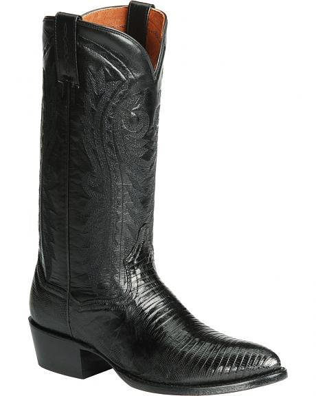 Dan Post Teju Lizard Western Boots - Pointed Toe