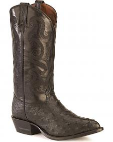 Tony Lama Full Quill Ostrich Western Boots - Pointed Toe