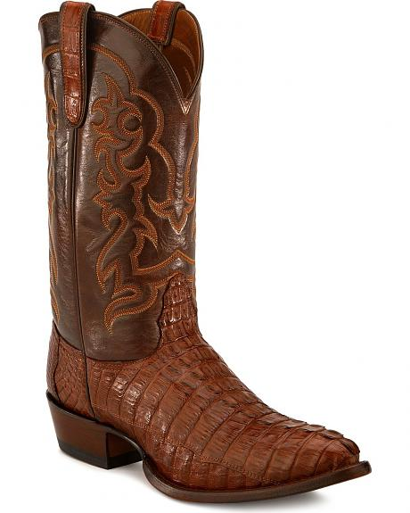 Nocona Hornback Caiman Tail Cowboy Boots - Pointed Toe