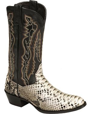 Dan Post mens back-cut python cowboy boots