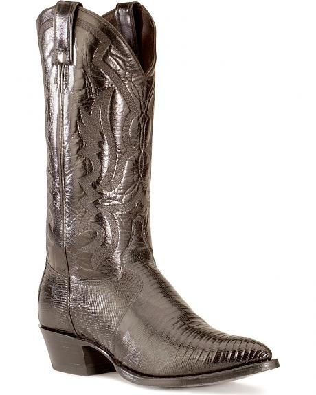 Justin Lizard Cowboy Boots - Pointed Toe