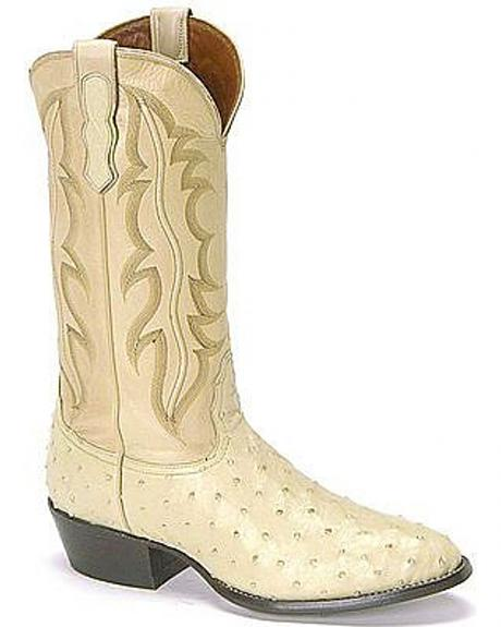 Nocona full quill ostrich boots - round toe