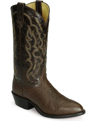Tony Lama smooth ostrich cowboy boots Western & Country Q9301
