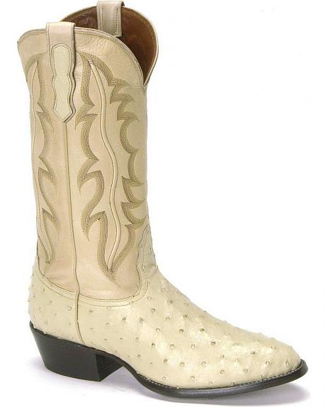 Nocona Full Quill Ostrich Western Boots - Medium Toe
