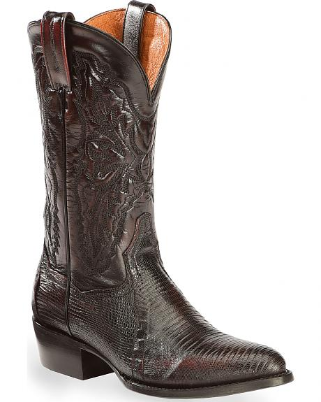 Dan Post Raleigh Lizard Western Boots - Medium Toe