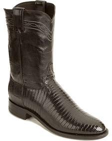 Justin Lizard Roper Cowboy Boots