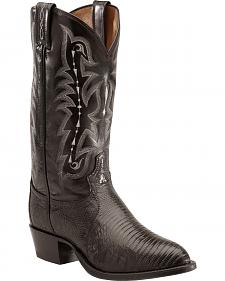 Tony Lama Lizard Boots - Medium Toe
