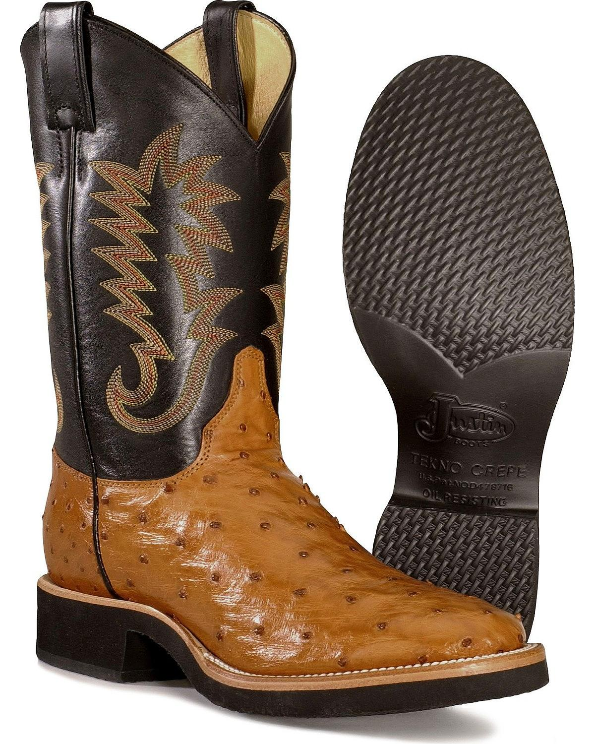 Justin Men S Full Quill Ostrich Cowboy Boot 5031 Ebay