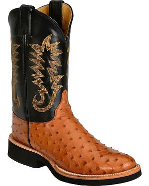 Justin Full Quill Ostrich Cowboy Boots