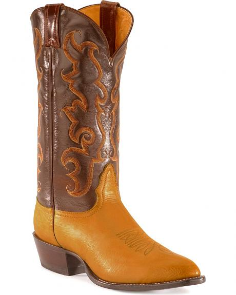 Nocona Smooth Ostrich Boots - Pointed Toe