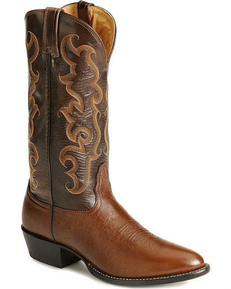 Nocona Smooth Ostrich Cowboy Boots - Medium Toe