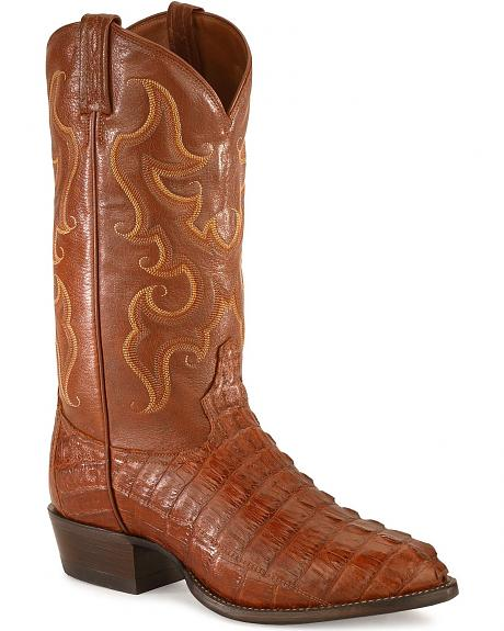 Tony Lama Caiman Tail Cowboy Boots - Medium Toe