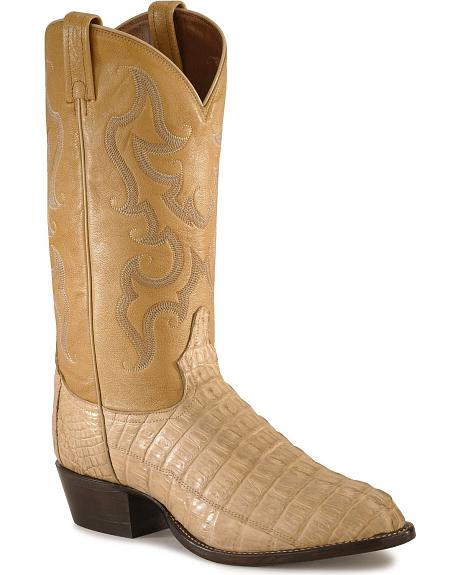 Tony Lama Caiman Tail Western Cowboy Boots - Narrow Toe