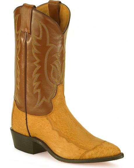 Tony Lama smooth ostrich western boots - pointed toe