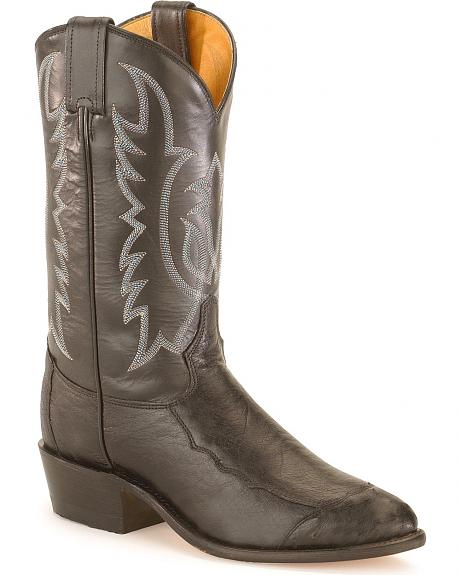 Tony Lama Smooth Ostrich Western Cowboy Boots - Medium Toe