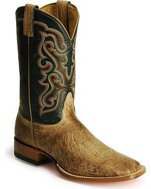 Nocona Smooth Ostrich Western Boots - Square Toe