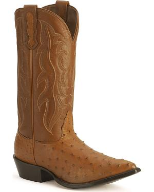 Nocona Full Quill Ostrich Boots - Pointed Toe