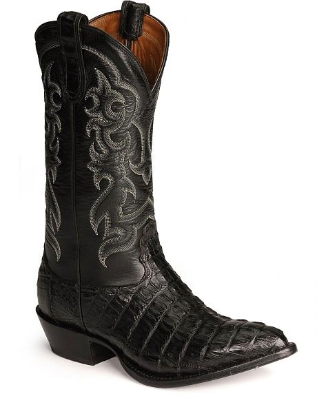 Nocona Caiman Tail Western Boots - Pointed Toe