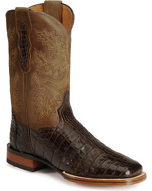 Dan Post Gel-Flex Cowboy Certified Caiman Stockman Boots
