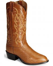 Tony Lama Smooth Ostrich Western Boots - Round Toe
