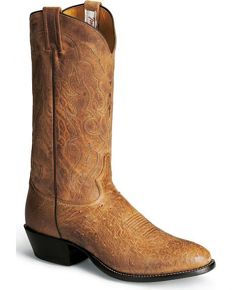 Tony Lama Vintage Smooth Ostrich Cowboy Boots - Round Toe