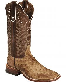 Tony Lama Men's Full Quill Ostrich Boot - Square Toe