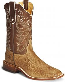 Tony Lama Smooth Ostrich Cowboy Boots - Square Toe