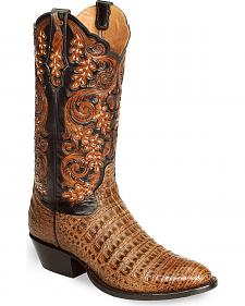 Tony Lama Signature Series Caiman Western Boots - Med