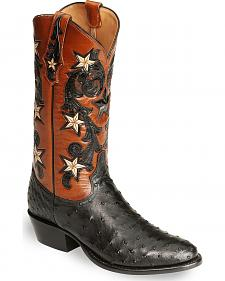 Tony Lama Signature Series Full Quill Ostrich Western Boots - Medium Toe