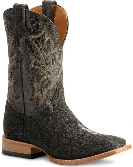 Stetson Stingray Cowboy Boots - Wide Square Toe