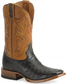 Stetson Ostrich Cowboy Boots - Wide Square Toe