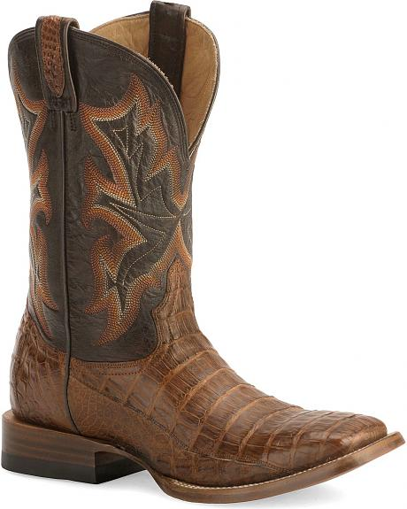 Stetson Caiman Cowboy Boots - Wide Square Toe