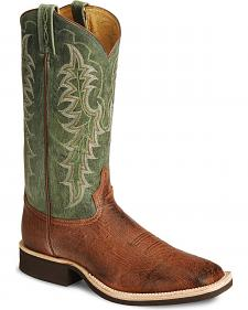 Tony Lama Smooth Ostrich Crepe Cowboy Boots - Square Toe