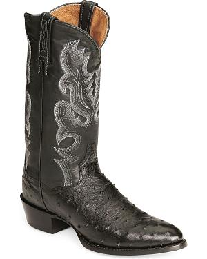 Dan Post Full Quill Ostrich Cowboy Certified Boots - Medium Toe