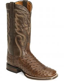 Dan Post Full Quill Ostrich Cowboy Certified Cowboy Boots - Wide Square Toe