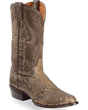 Dan Post Omaha Python Cowboy Boots - Pointed Toe