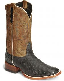 Nocona Men's Full Quill Ostrich Boots - Square Toe