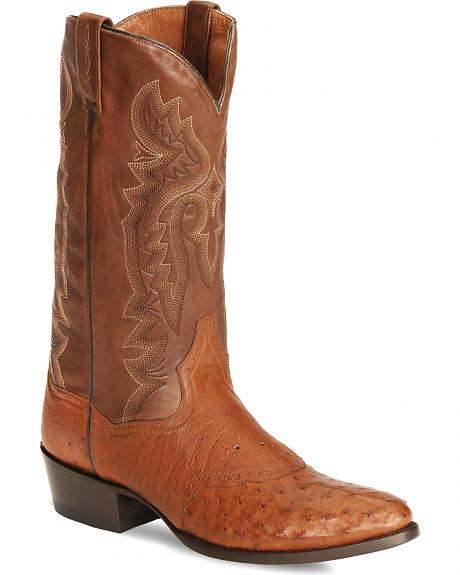 Dan Post Full Quill Ostrich Cowboy Boots - Medium Toe