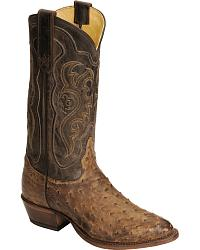 Tony Lama Men's Vintage Full Quill Ostrich Boots at Sheplers