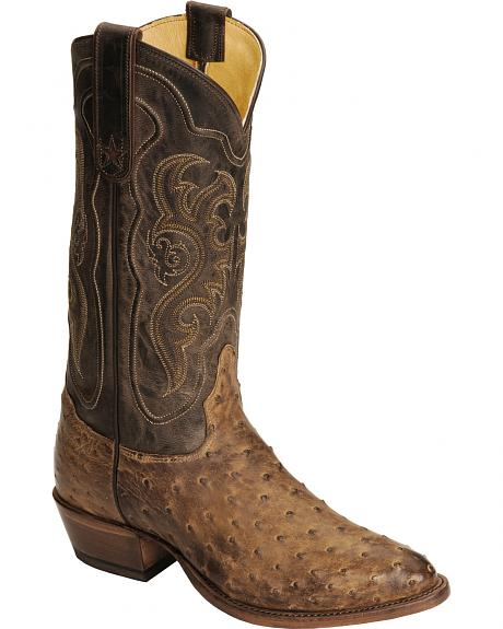 Tony Lama Men's Vintage Full Quill Ostrich Boots - Medium Toe