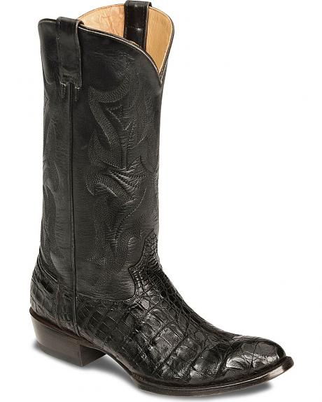Stetson Flank Cut Caiman Cowboy Boots - Round Toe