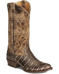 Stetson Flank Cut Caiman Cowboy Boots - Round Toe at Sheplers