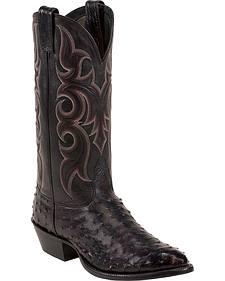 Nocona Full Quill Ostrich Cowboy Boots - Medium Toe