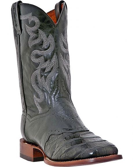 Dan Post Caiman Belly Cowboy Boots - Square Toe