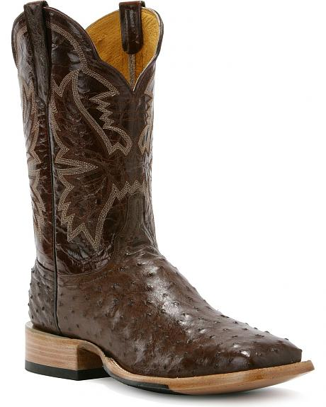 Cinch Classic Full Quill Ostrich Cowboy Boots - Square Toe