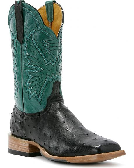 Cinch Classic Western Full Quill Ostrich Cowboy Boots - Square Toe