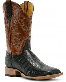 Cinch Classic Western Mica Caiman Cowboy Boots - Square Toe