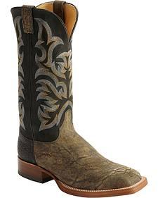 Justin AQHA Elephant Cowboy Boots - Square Toe