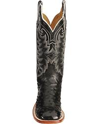 Tony Lama San Saba Full Quill Ostrich Cowboy Boots - Wide Square Toe at Sheplers