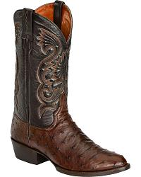 Red Ranch Full Quill Ostrich Cowboy Boots at Sheplers